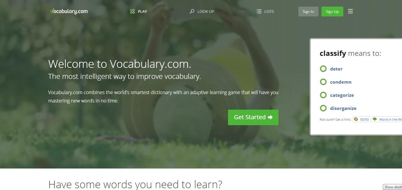 web học từ vựng tiếng anh miễn phí