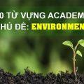 100 từ vựng academic chủ đề môi trường