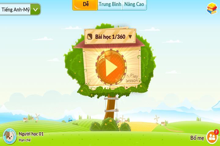 ứng dụng học tiếng anh Monkey Junior